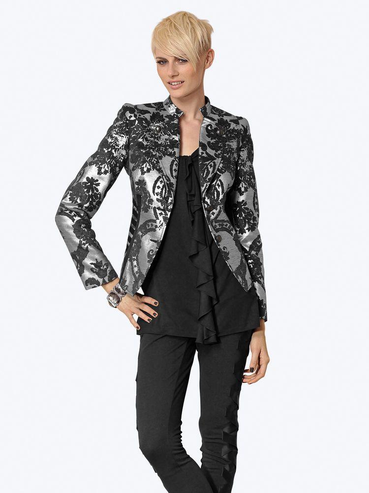 mode femme 2012 vestes blazer original gris arabesque