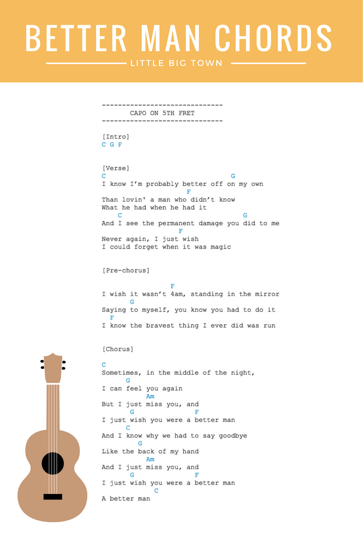 Better Man Chords Little Big Town Guitar Ukulele Chords Find