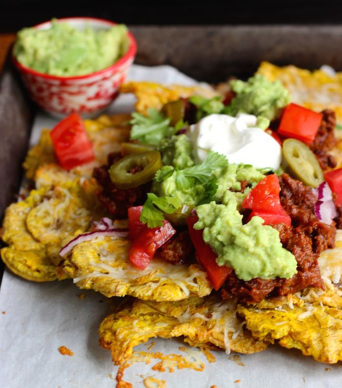 Patacon Loaded Nachos Recipe In 2019 Easy Cooking Pinterest