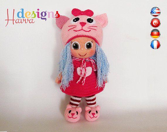 PATTERN - Cat Doll (crochet, amigurumi)