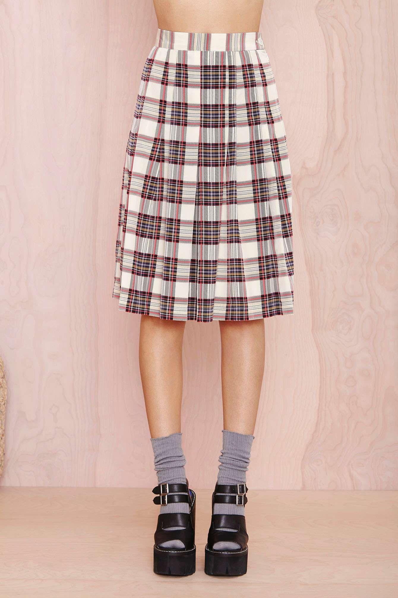 plaid skirt   Perfectly Plaid   Pinterest   Medias