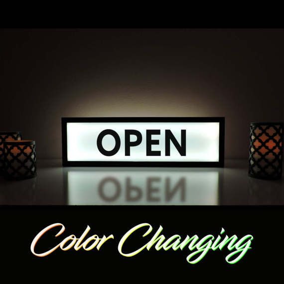 Light Up Business Sign, Open Sign, Open Light, Open Closed