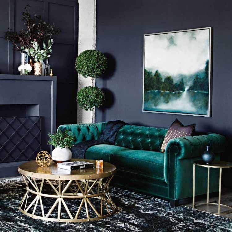 Teal decor in Beautiful traditional style living room with ...
