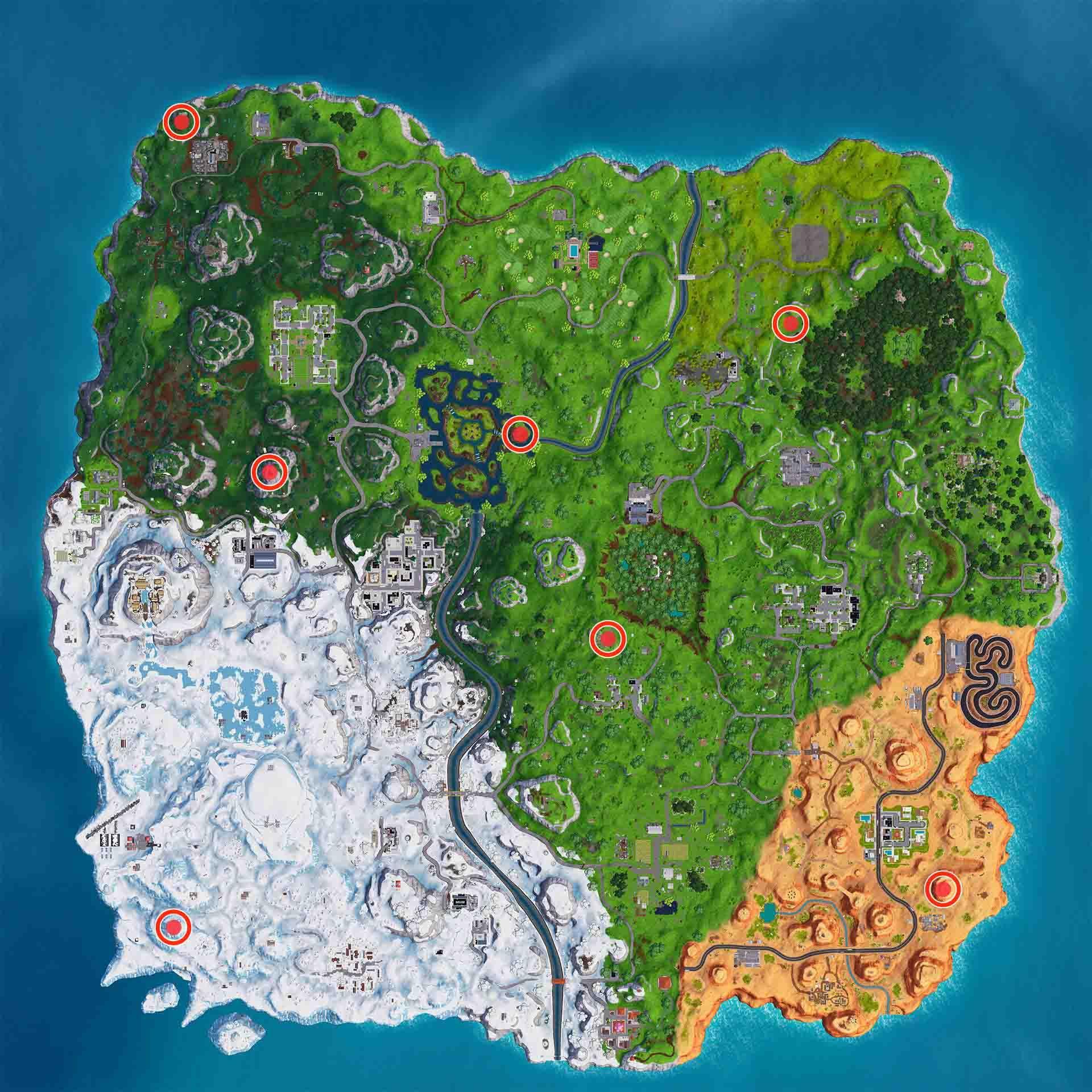 Fortnite Temporada 7 Mapa.Baila En Ubicaciones Prohibidas Diferentes Fortnite