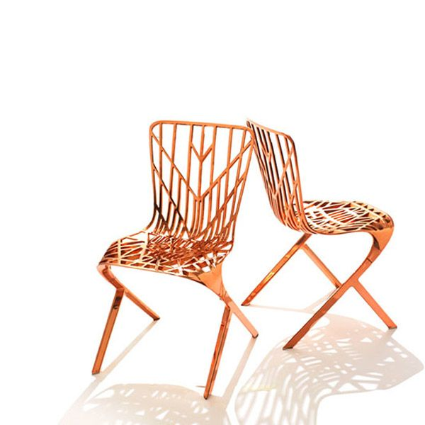 Knoll Washington Skeleton Chair Copper Plated