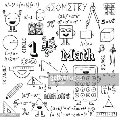 Mathematics Hand Drawn Vector Illustration Black And White Math Doodles How To Draw Hands Math Drawing