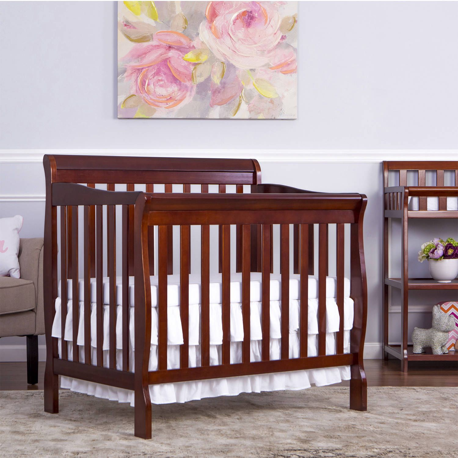and combo best changer french changing gallery white with mini in verona crib sorelle cribs decoration table convertible