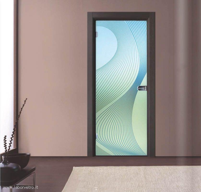 25 porta a battente in vetro satinato con decoro-BC .jpg | g | Pinterest