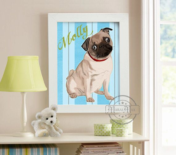 Puppy Dog Kids Wall Art  Poster Print 8x10  Colorful Posters by MuralMAX, #puppy #wallart #kidsroom