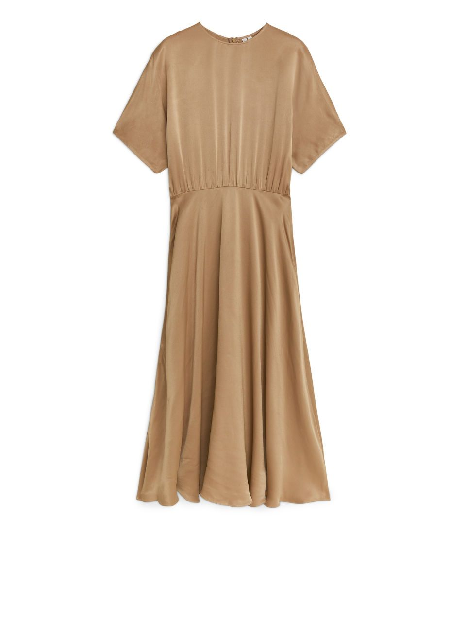 90fa64a171b2e Satin Fluted Dress - Beige - Dresses - ARKET IE in 2018