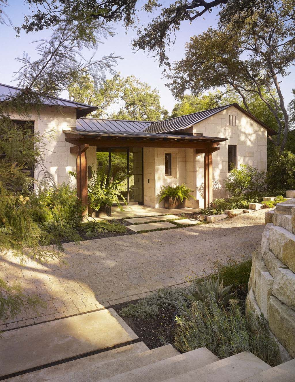 Stunning rustic modern home nestled on beautiful Lake Austin Texas