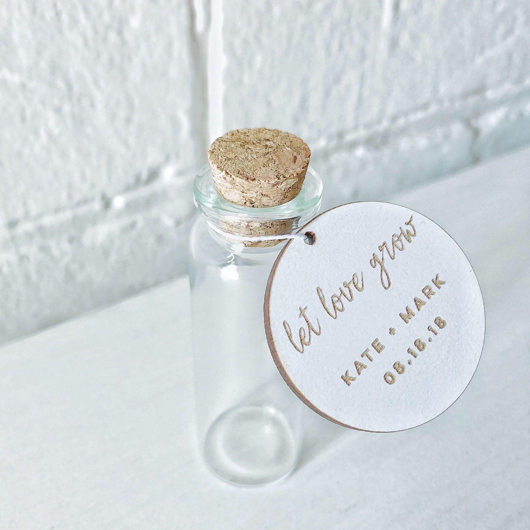 Let Love Grow Seed Packet-Custom seed packet-laser cut Wedding favor ...