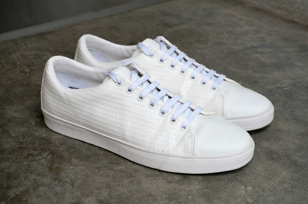 Zara Man Embossed Plimsolls White