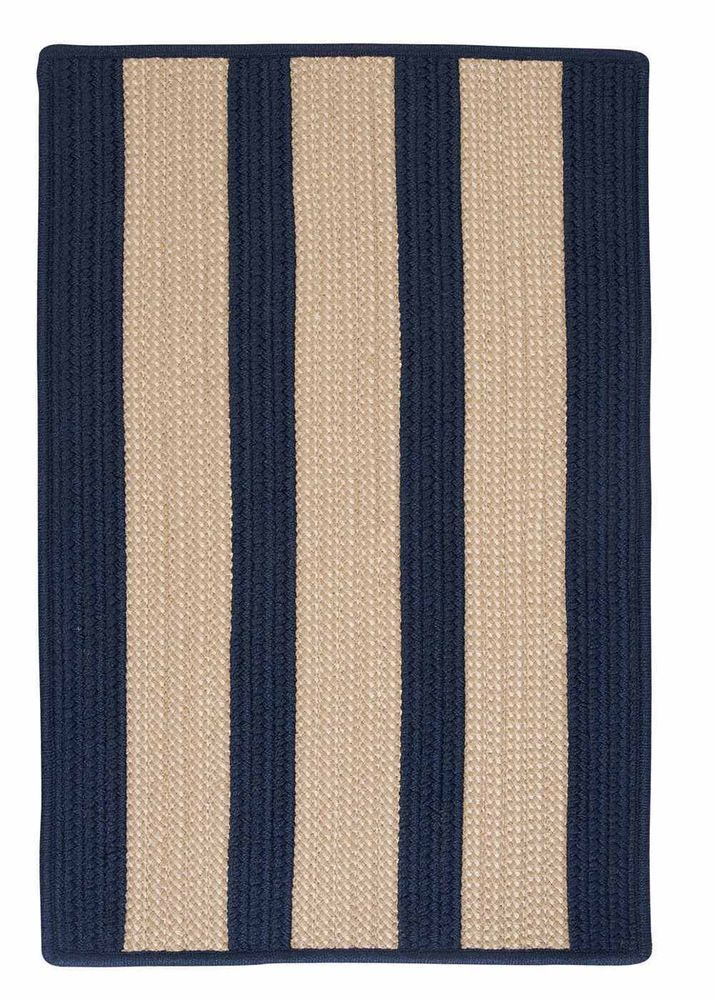 Blue Clearance Rug Braided Indoor