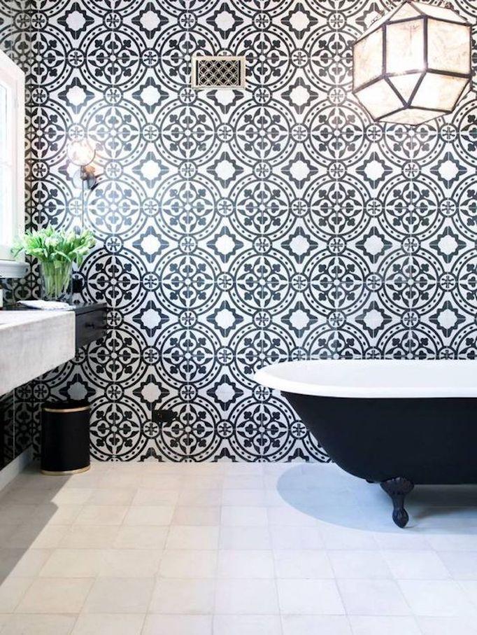 Bathroom Style Trend Tile Statement Wallbecki Owens Spanish Home Decor Bathroom Tile Designs Bathroom Interior Design