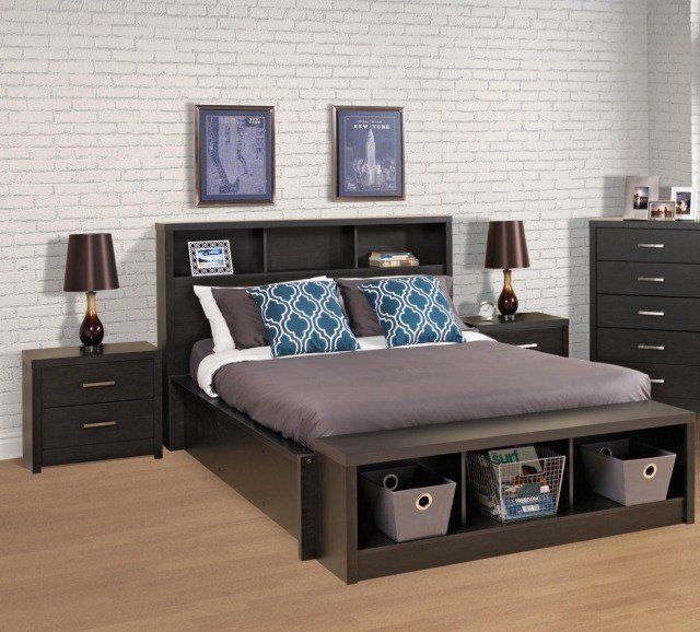 Tete De Lit Avec Rangement Fonctionnel Et Esthetique Black Headboard Headboard Storage Bed Frame With Storage