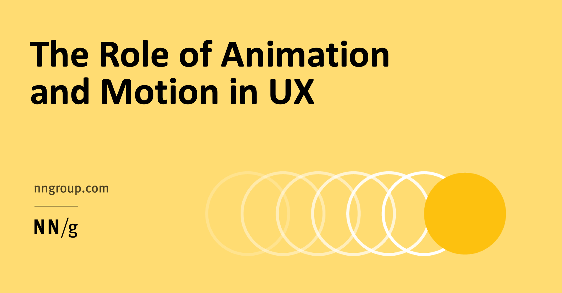 The Role of Animation and Motion in UX in 2020 Animation