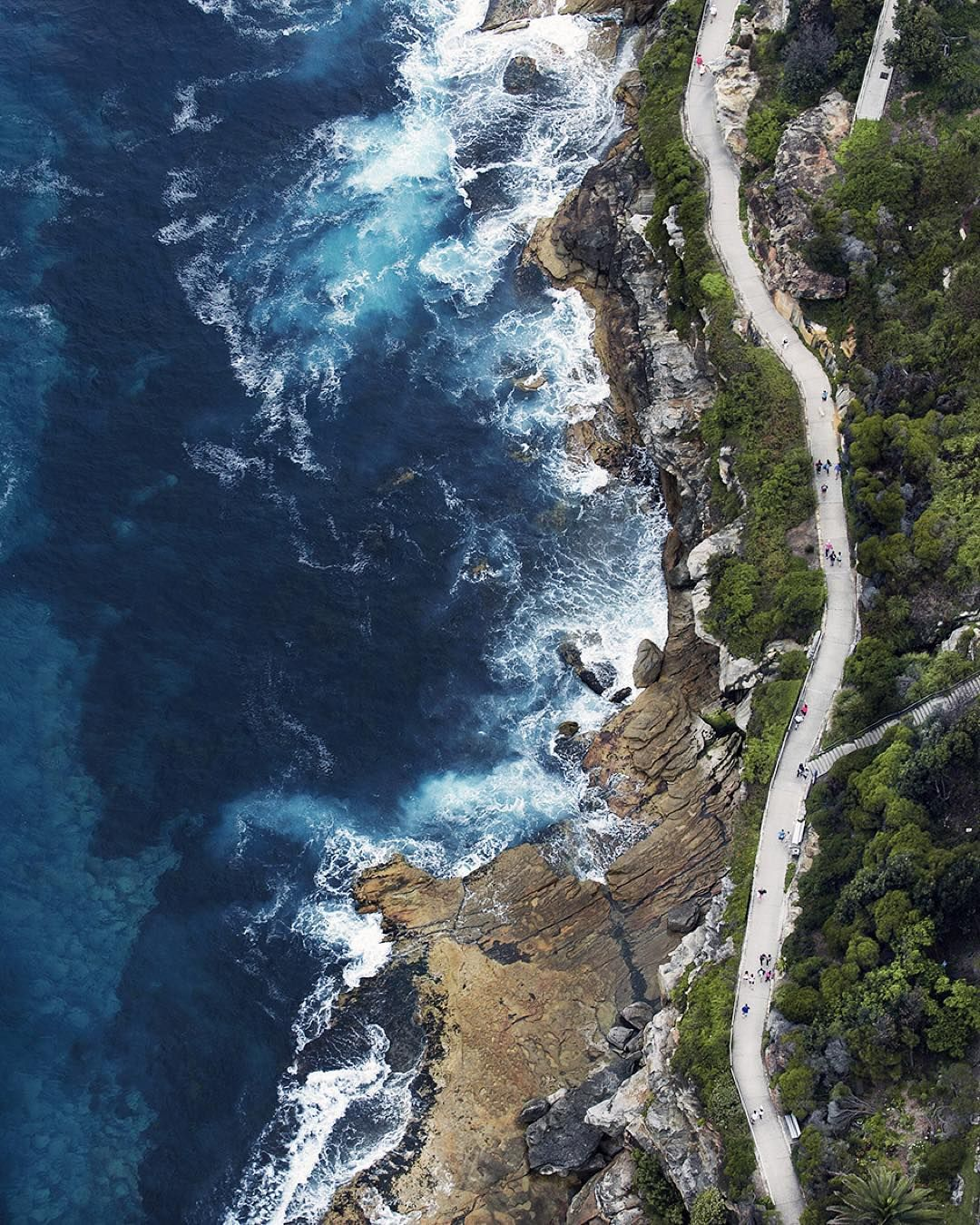 Has anyone walked the Bondi to Bronte coastal path? This was my view of it as I flew over in the chopper!  #aerialphotography #aerialview #aerial #tommyclarke #travel #sydney #bondi #bronte #bonditobronte #nodrone #helicopter by tommy.clarke http://ift.tt/1KBxVYg