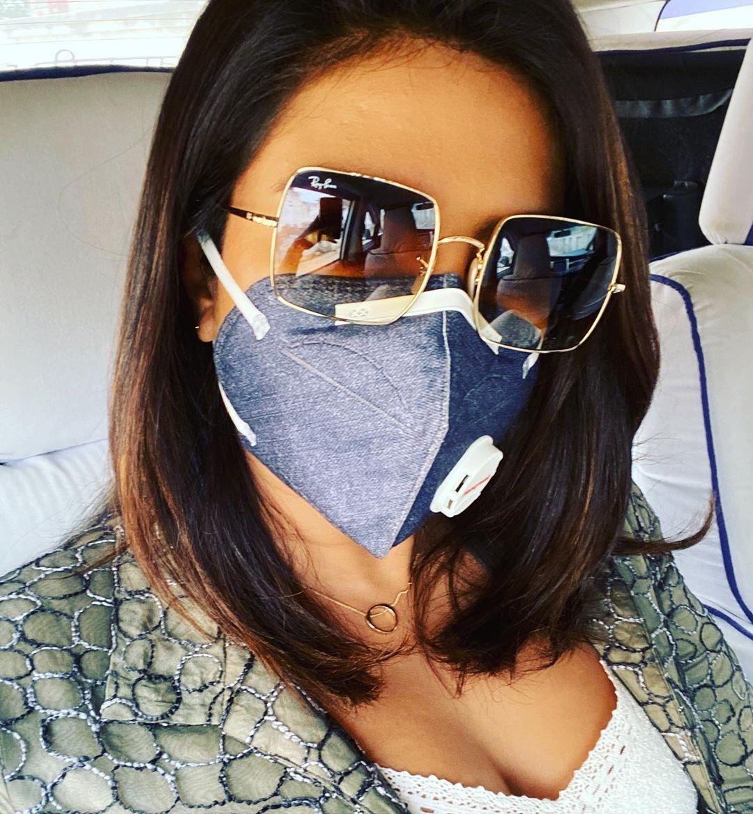 Priyanka Chopra Jonas On Instagram Shoot Days For Thewhitetiger It S So Hard To Shoot Here Right Now That I Priyanka Chopra Square Sunglasses Women Chopra
