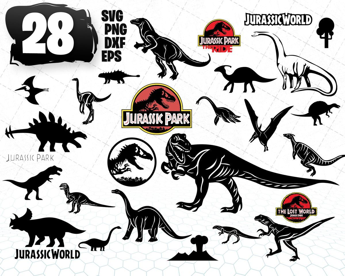 28 Dino SVG Design Bundle