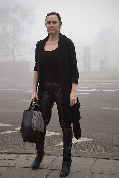 street fashion black