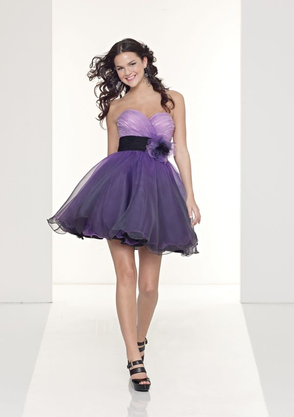 Stunning A-line Organza Sweetheart Cocktail / Homecoming Dress | s ...