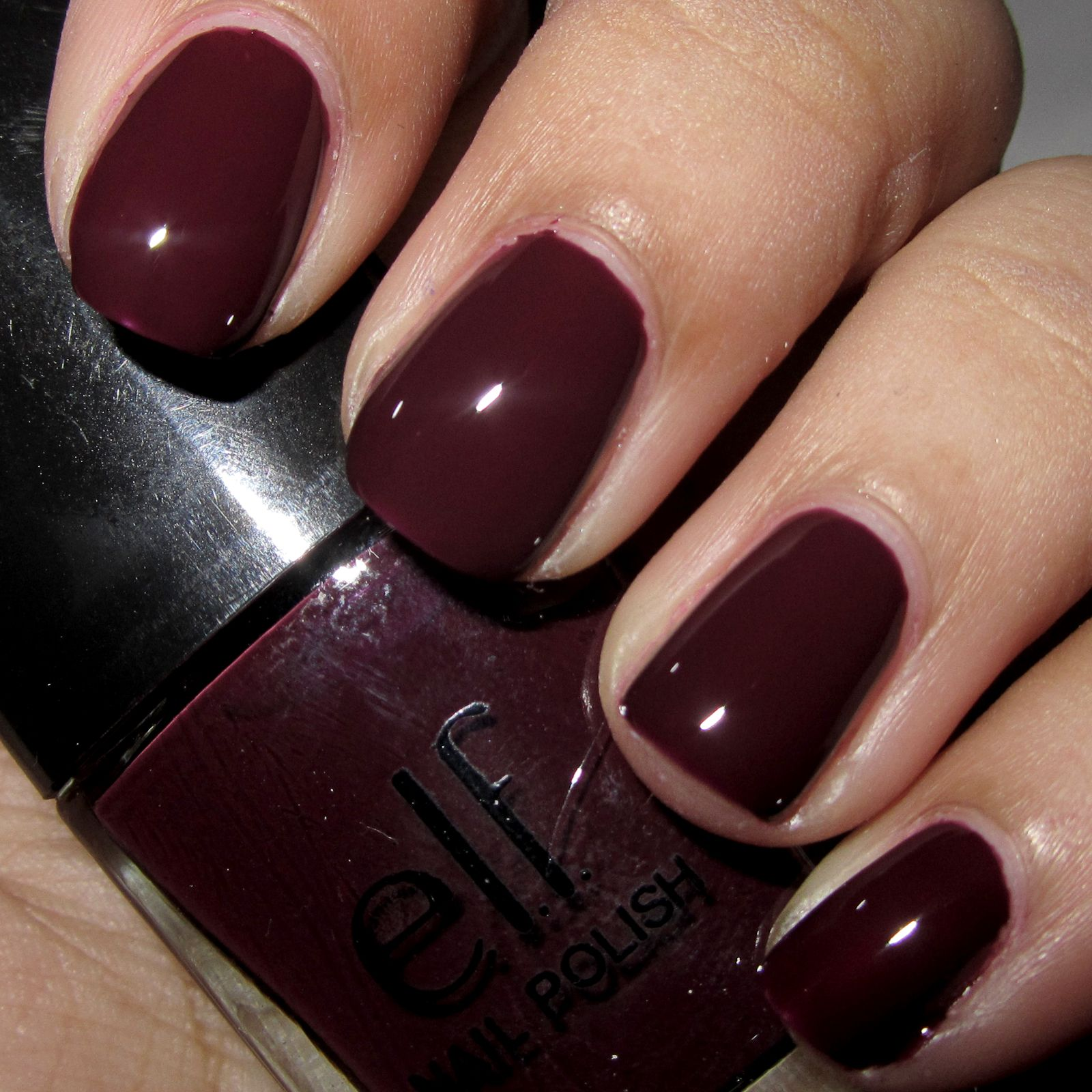 March 2013: elf nail polish: in the color: plum | Nails | Pinterest