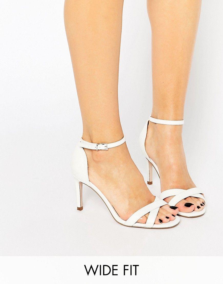 SEEK Wide Fit Heeled Sandals at asos