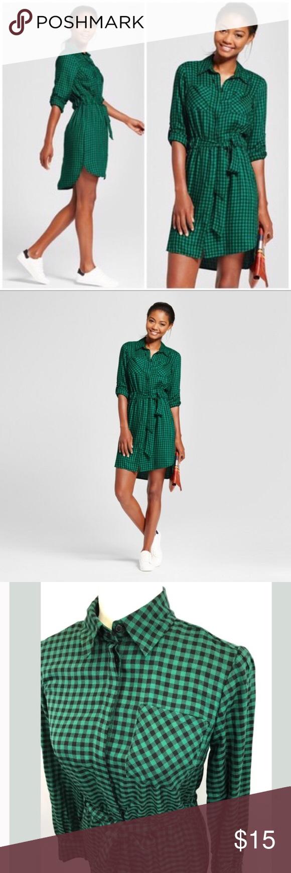A New Day Target Gingham Green Dress Size M Green Dress Clothes Design Dresses [ 1740 x 580 Pixel ]