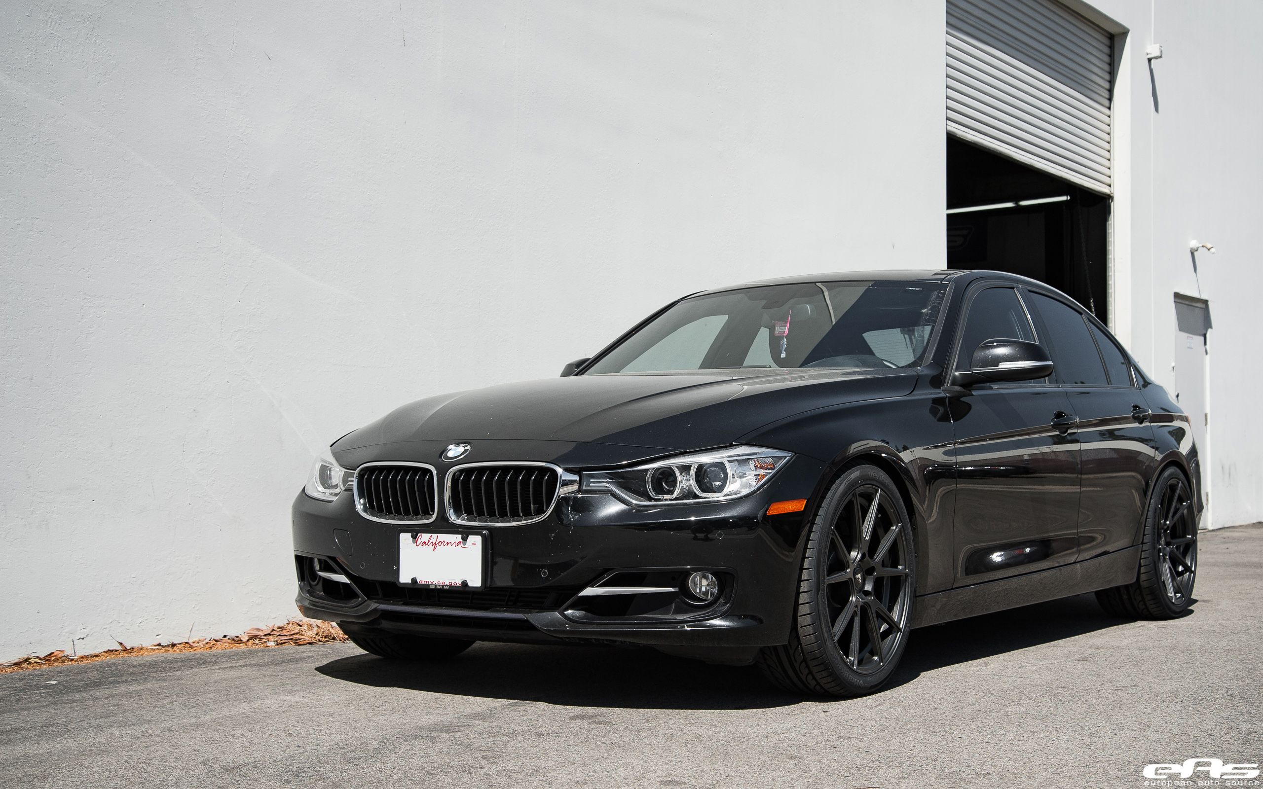 Black sapphire metallic bmw 328i gets vorsteiner v ff 106 wheels http