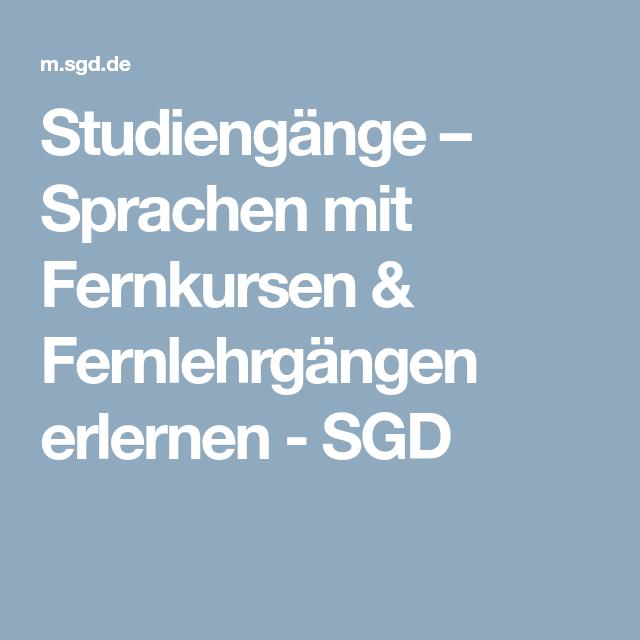 Studiengänge Mit Sprachen