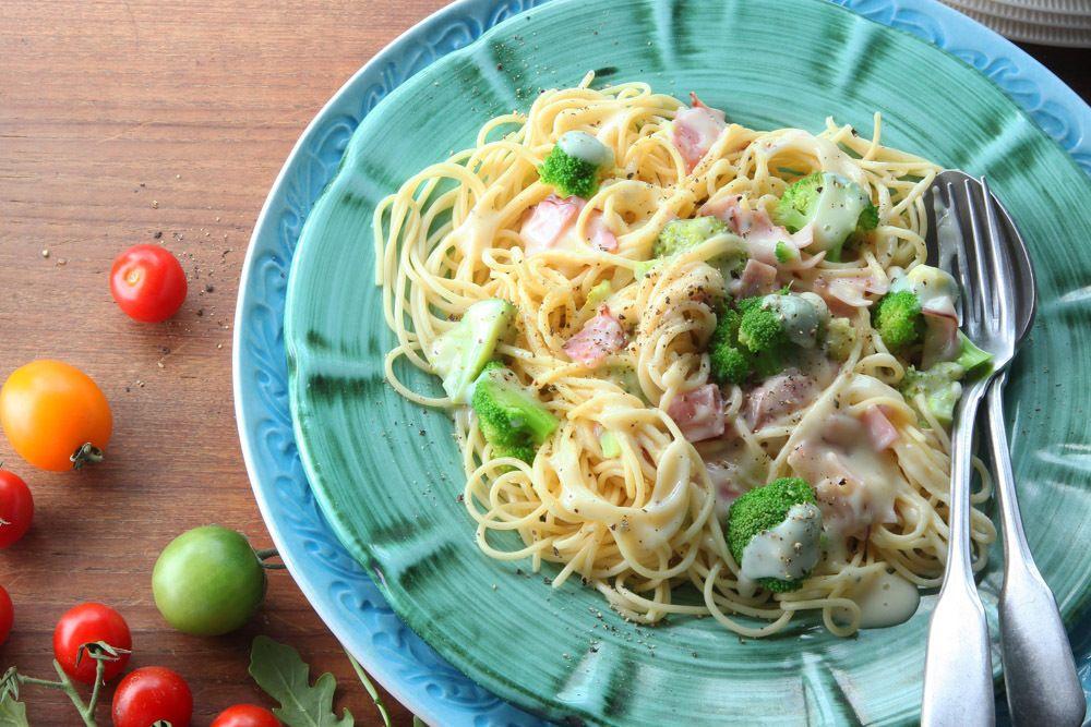 Pasta Med Skink Och Broccolisas I 2020 Tagliatelle Skinka Recept