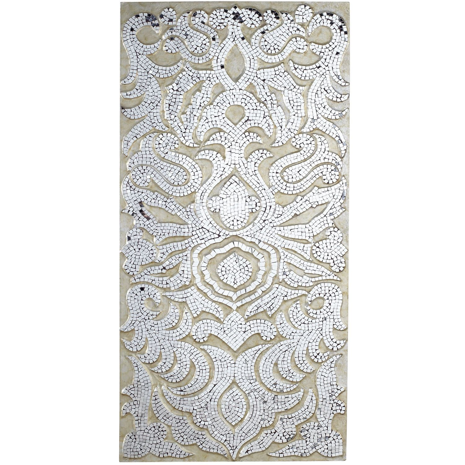 Mirrored Damask Panels - Champagne | Pier 1 Imports ...