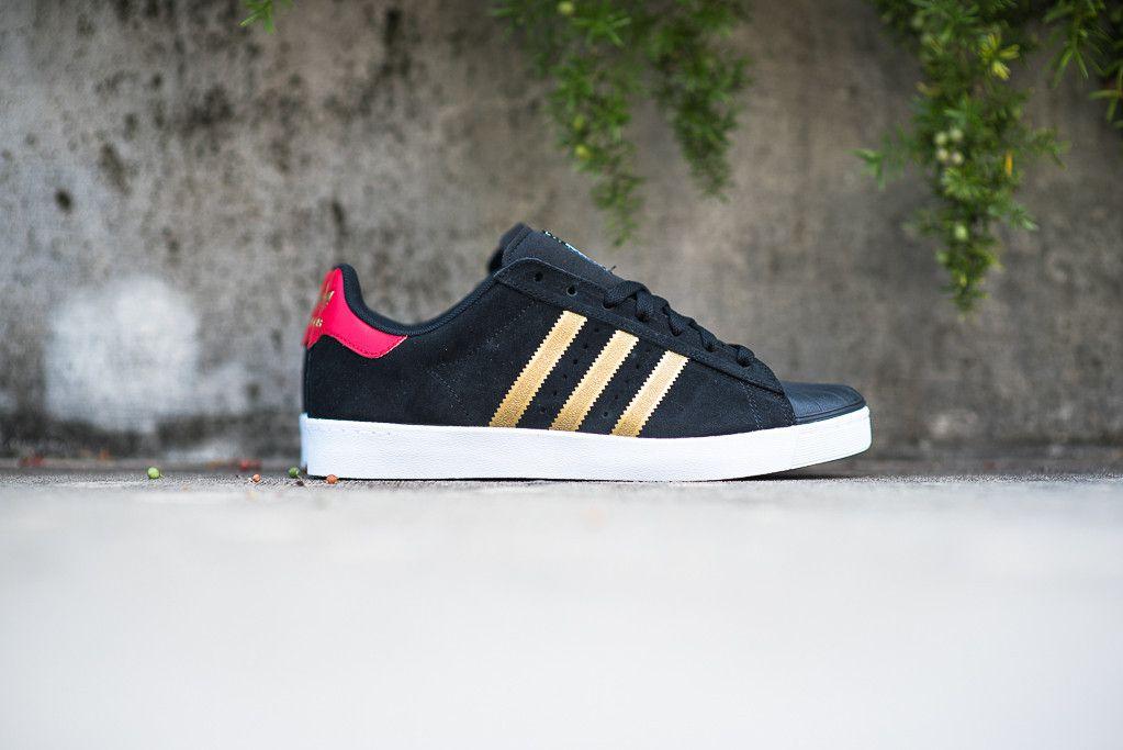 49315f4476 ... adidas skateboarding superstar vulc adv black red gold eu kicks sneaker  magazine