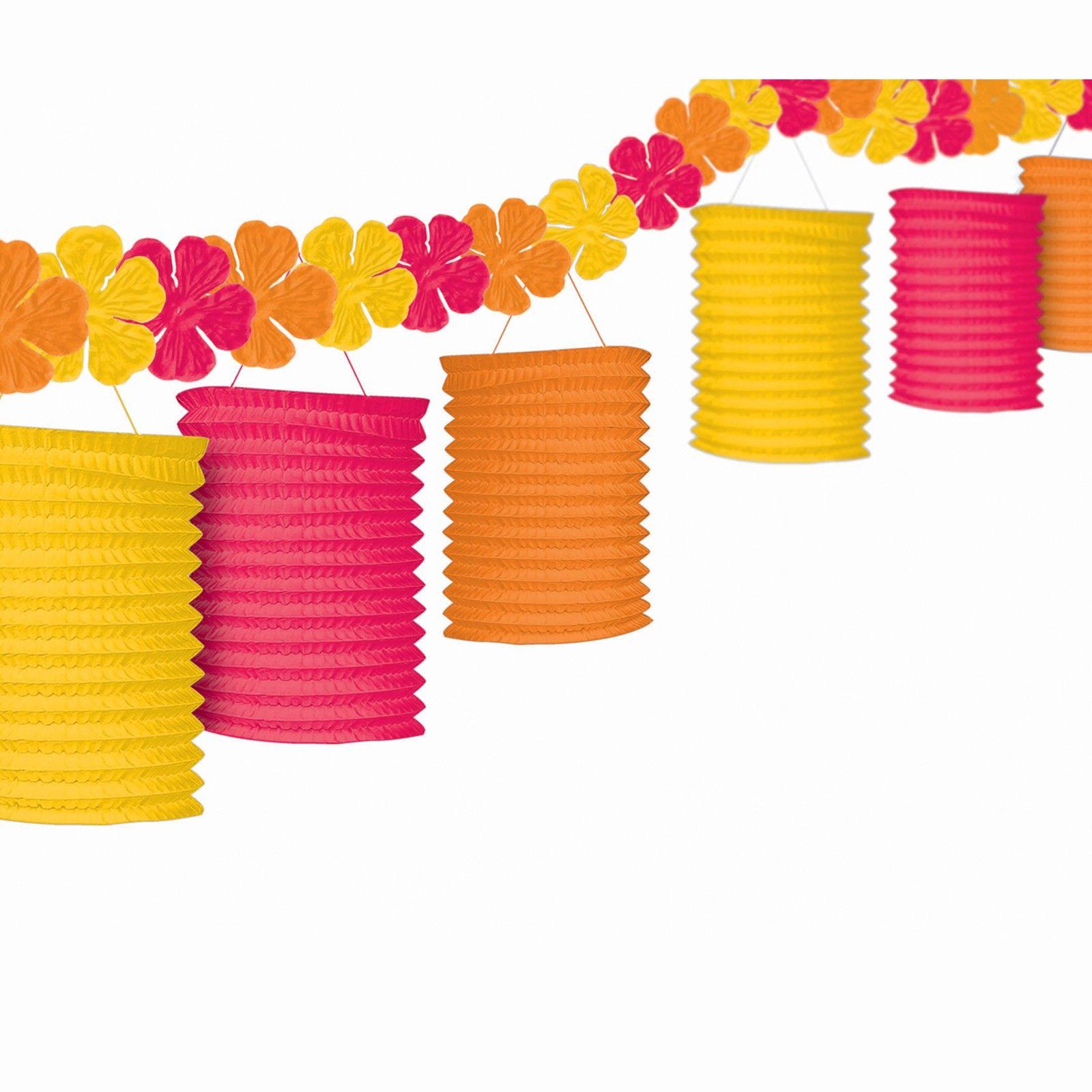 Garland lanterns Hawaiian party decorations, Luau