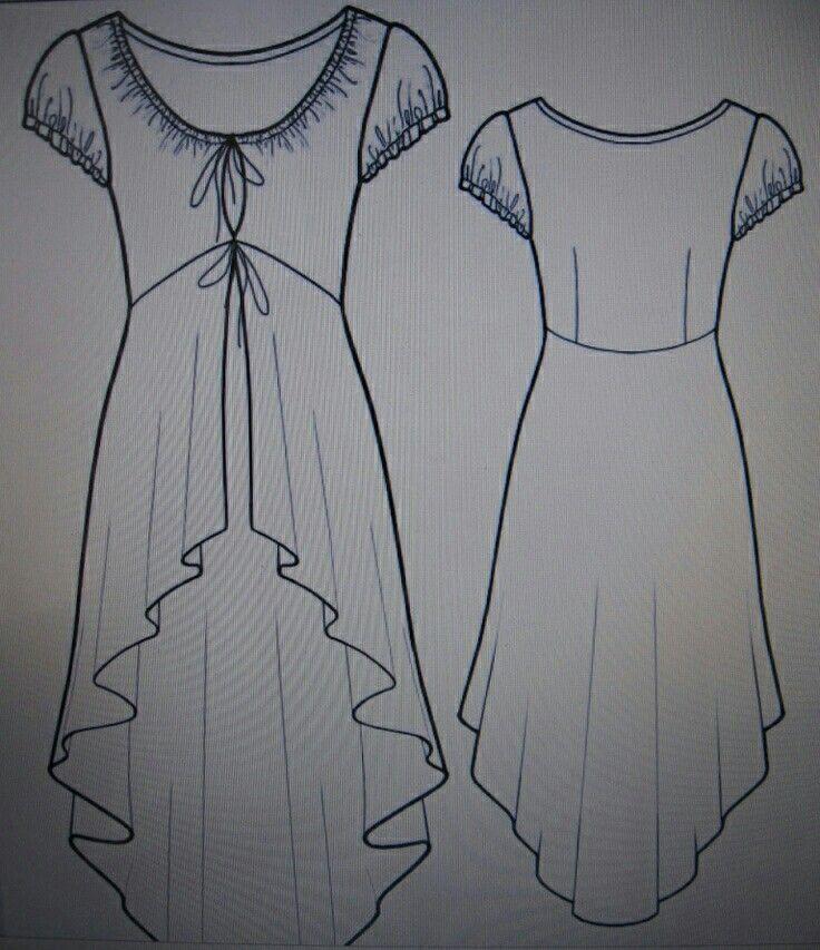 Pin von Antonella Queirolo auf >>Fashion Sketches<< | Pinterest