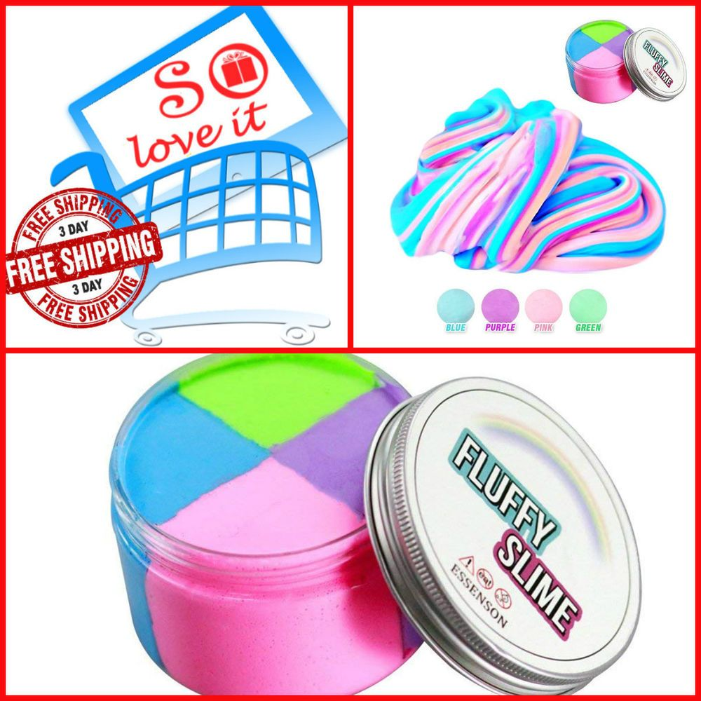 Jumbo Floam Cloud Colorful Rainbow Slime Stress Relief Toy ...