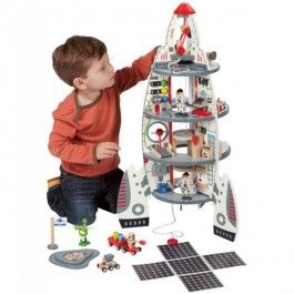 Four Stage Rocket Ship Deluxe Space Playset Educational Toys For Kids Kids Playset