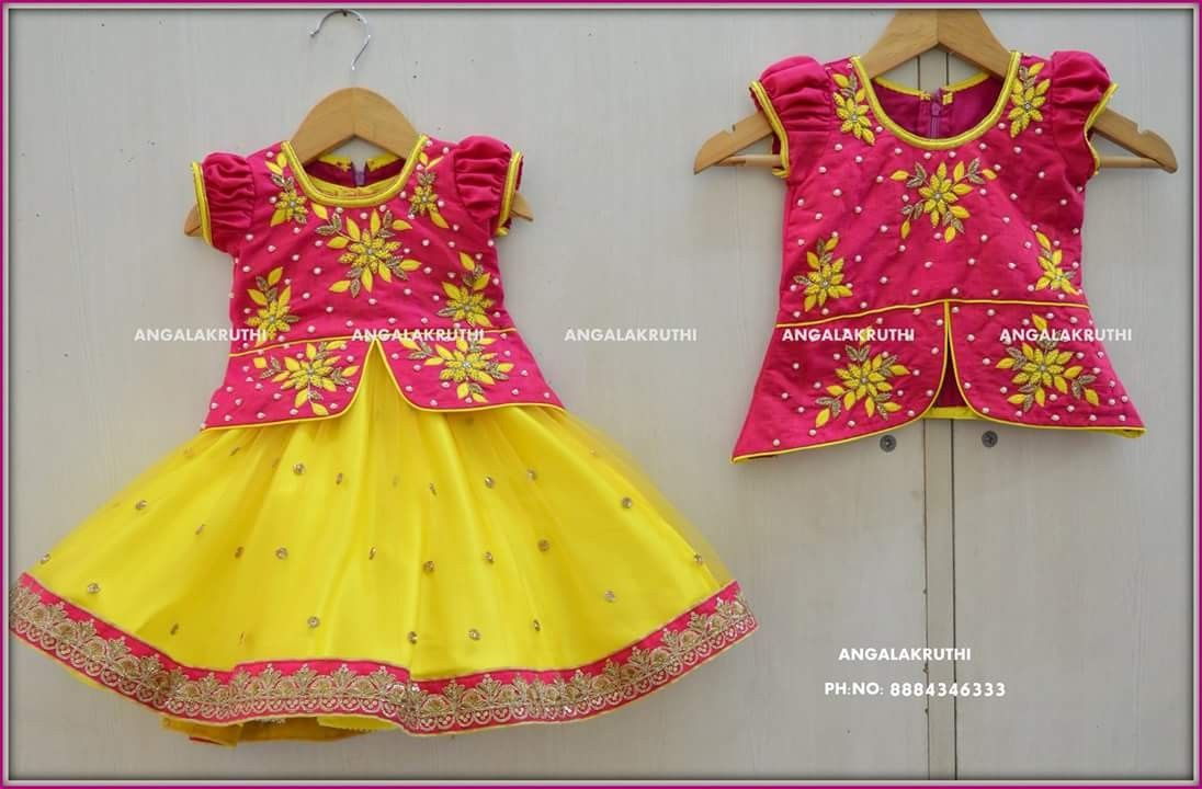 Kids Tradational Dress Designs By Angalakruthi Boutique Bangalore Kids Party Wear Designs By Angalakruthi Boutique Kids Blouse Designs Kids Dress Kids Lehenga