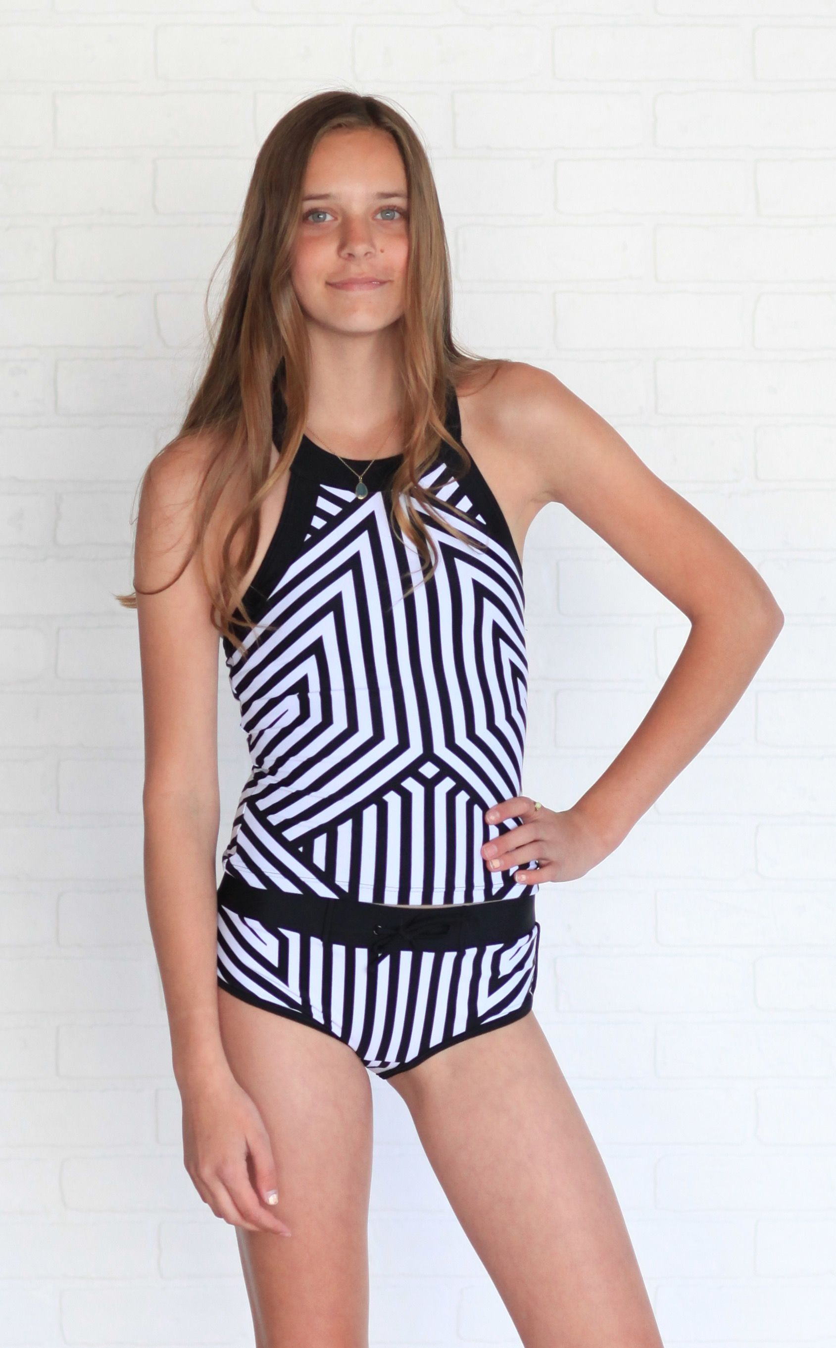 5ed9d6c976a89 Sporty tween tankini by Rad Swim | RAD Tween Swimsuits | Swimsuits ...