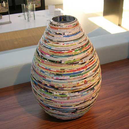 Artesanato com jornal velho