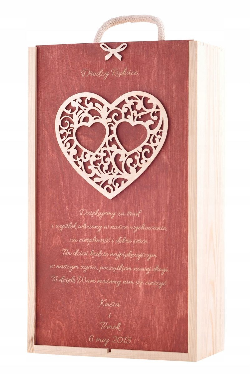 Skrzynka Grawer Pudelko Na Dwa Wina Prezent Slub 7734828763 Oficjalne Archiwum Allegro Decoupage Box Gifts For Wine Lovers Wine Gift Boxes