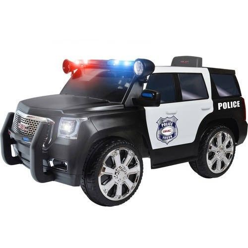 Toddler Ride On Car Battery Powered Police Suv Kids Outdoor Toy