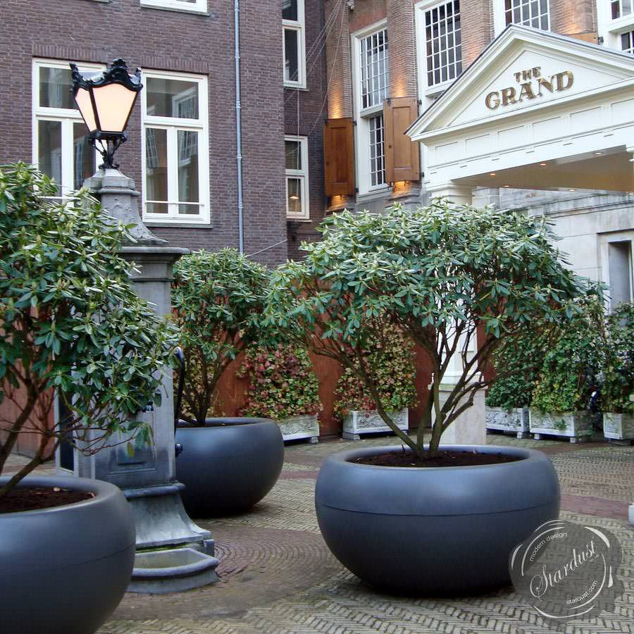 Extra Large Planters For Outside | XXL Commercial Planter: Extra Large  Round Planter Box