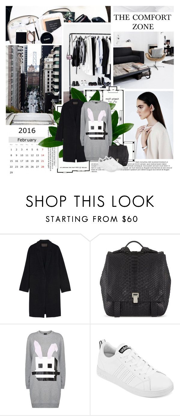 """""""The comfort zone"""" by missoumiss ❤ liked on Polyvore featuring Børn, Donna Karan, Proenza Schouler, McQ by Alexander McQueen, adidas, women's clothing, women, female, woman and misses"""
