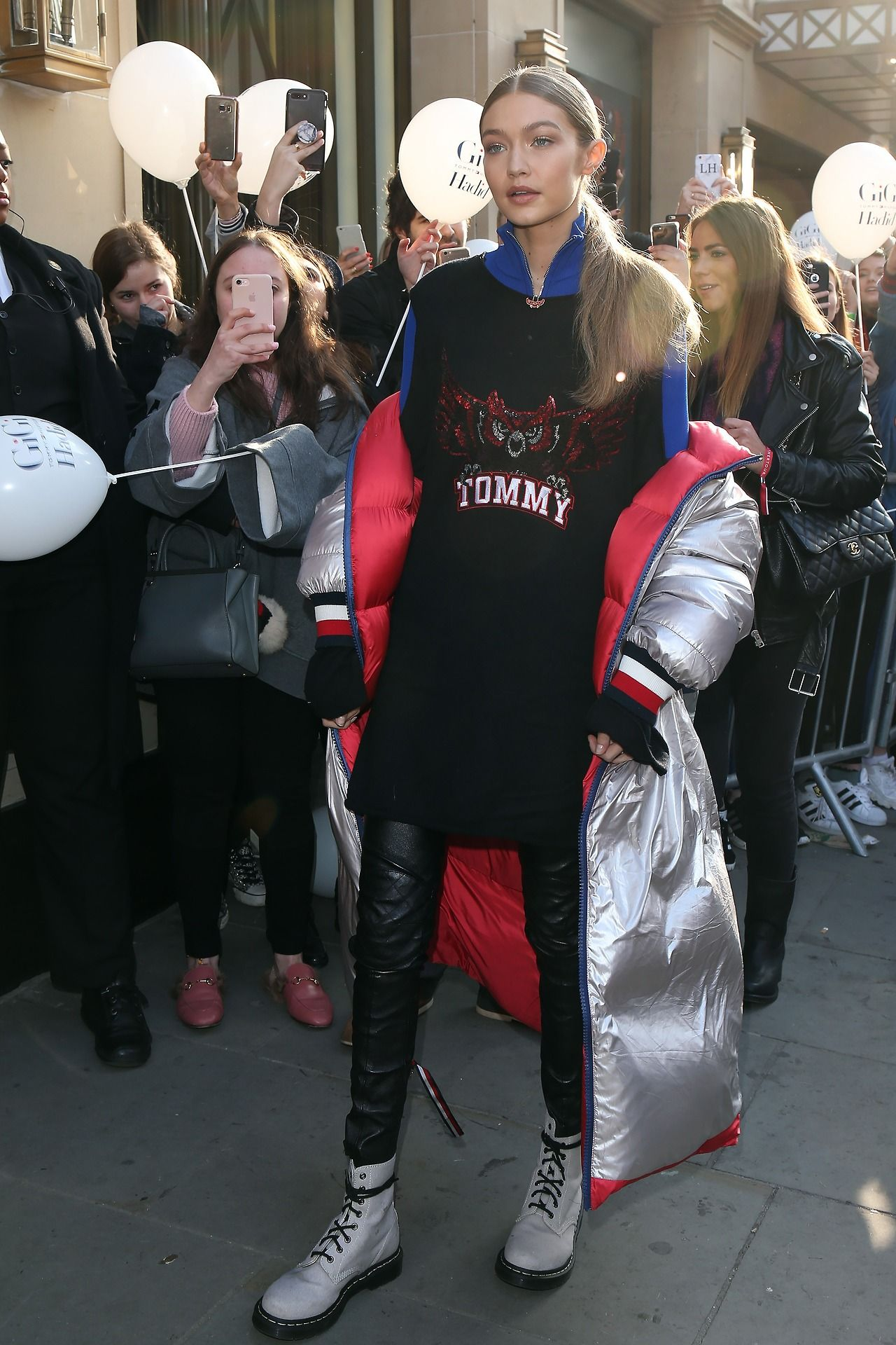 5fa86590 Gigi Hadid at the Tommy Hilfiger Flagship store in London, UK ...
