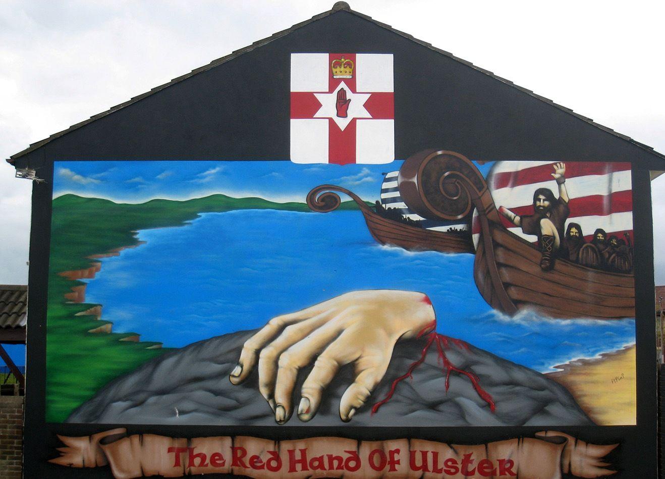 Red hand mural belfast ulster pinterest belfast for Mural belfast