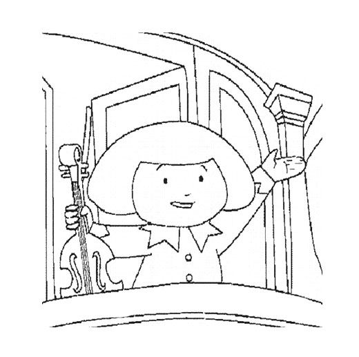 Madeline Hold The Violin Coloring Page For Kids Kids Coloring