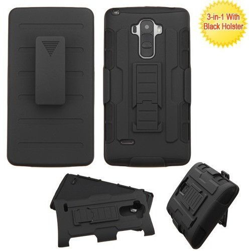 MYBAT iRobot Advanced Armor Holster LG G Stylo Case - Black
