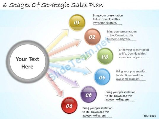Business Ppt Diagram  Stages Of Strategic Sales Plan